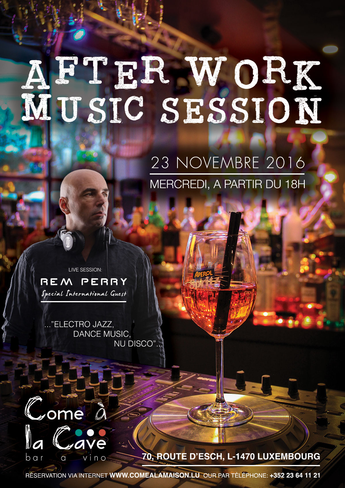 «After Work, Music Session» avec Rem Perry