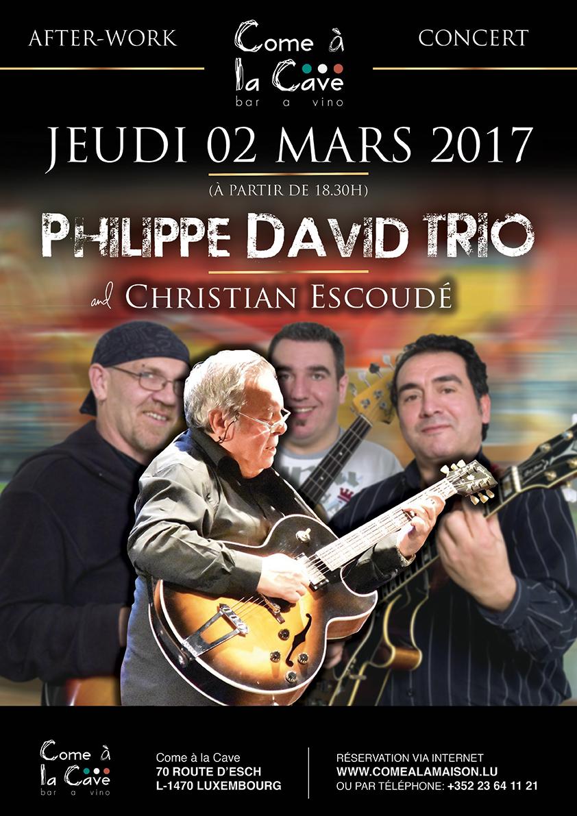 Philippe David trio invite Christian Escoudé