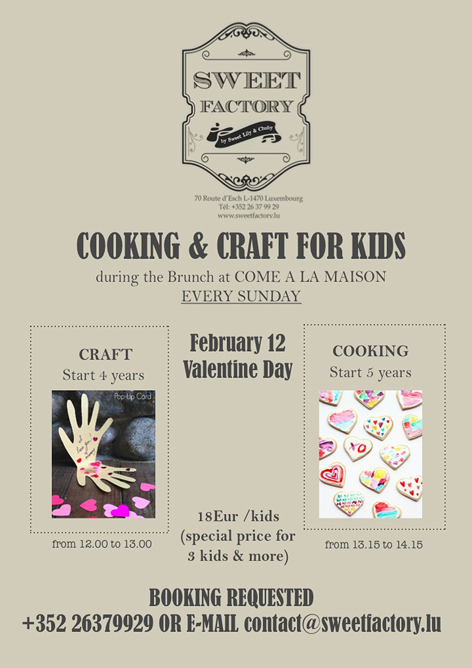 COOKING & CRAFT FOR KIDS