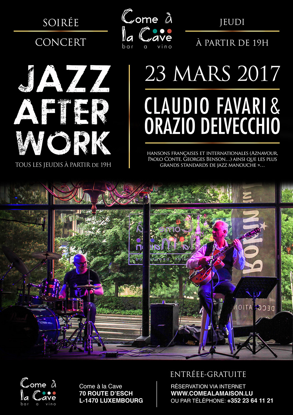 JAZZ AFTER WORK, Claudio Favari & Orazio Delvecchio