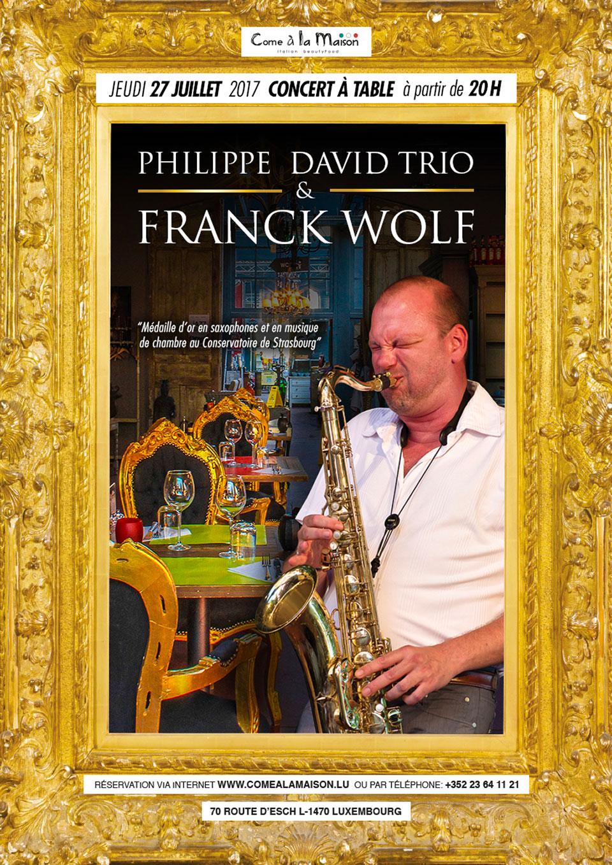 Franck Wolf invité par Philippe David Trio