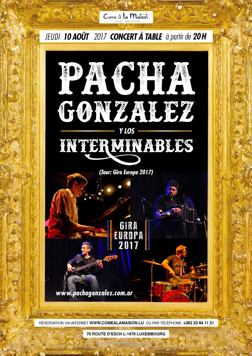 Pacha González y Los Interminables (Tour: Gira Europa 2017)