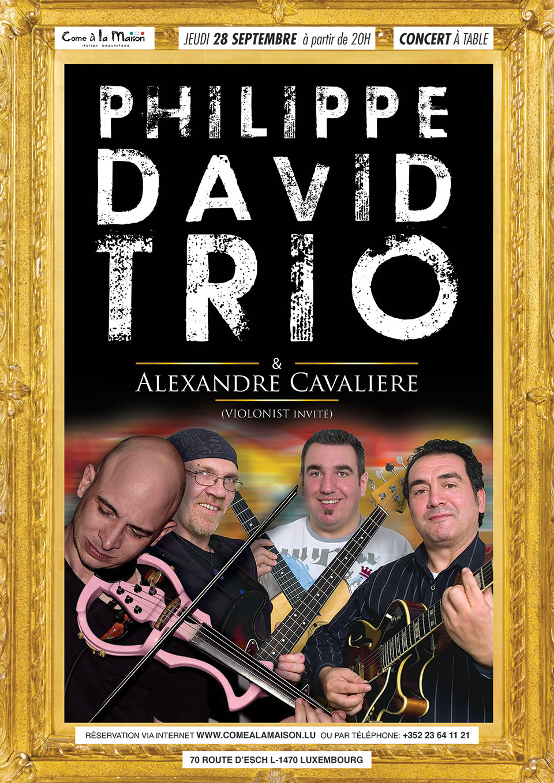 PHILIPPE DAVID TRIO & ALEXANDRE CAVALIERE (VIOLONIST INVITÉ)
