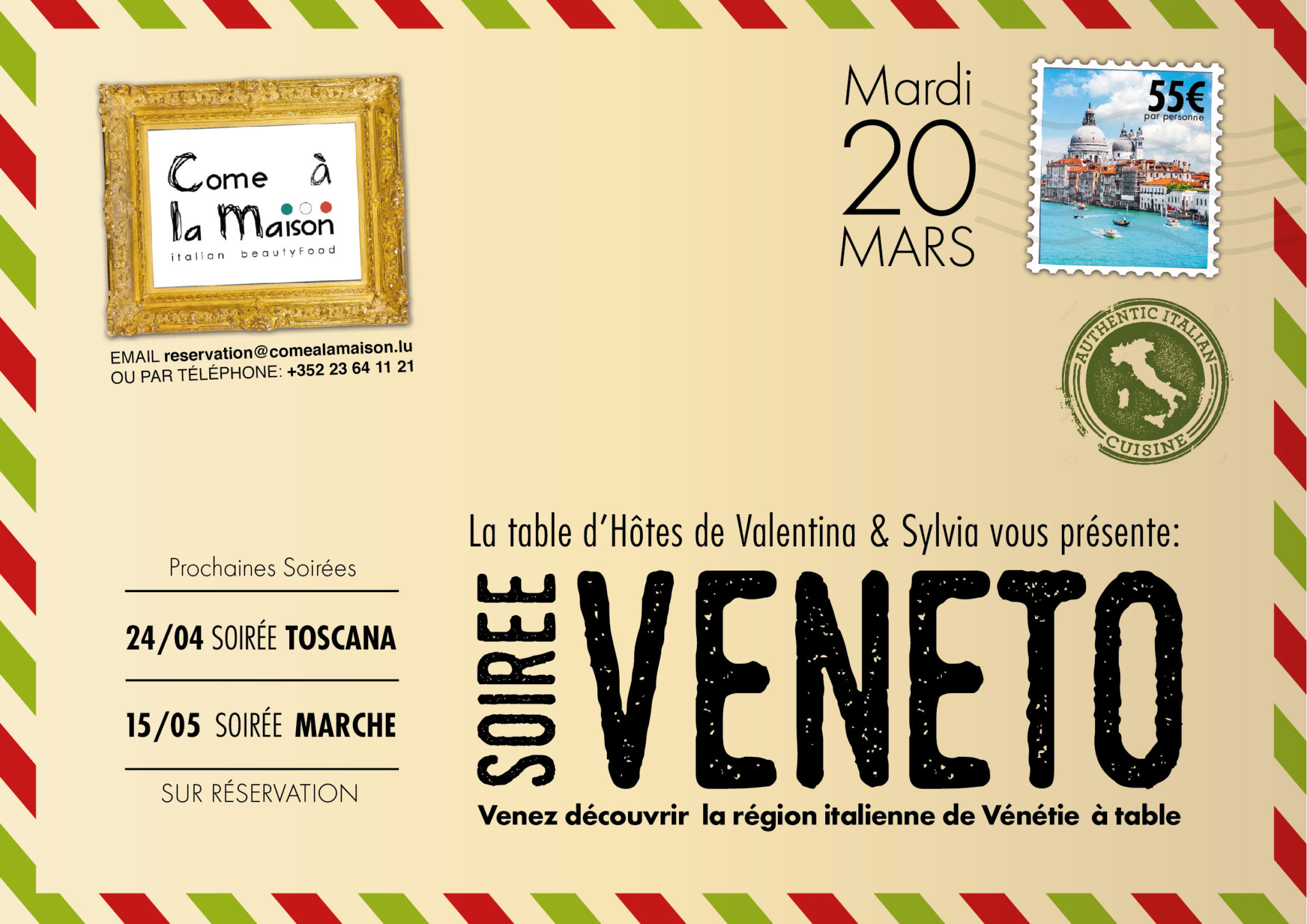 Soirée Veneto – Table d'Hôtes de Valentina & Sylvia