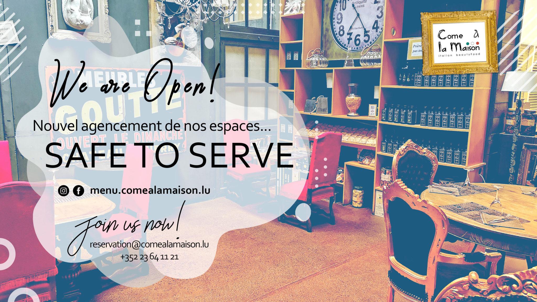YES WE ARE OPEN! Nouvel agencement de nos espaces intérieurs