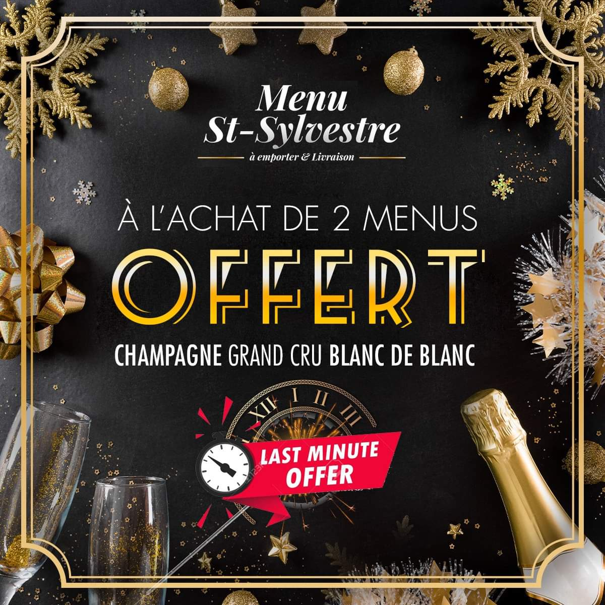 LAST MINUTE DEAL MENU DE LA SAINT-SYLVESTRE 2020/21